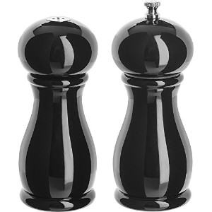 Trudeau Maisonシルエットブラック6インチPepper Mill withセラミックGrinder and塩入れby Trudeau