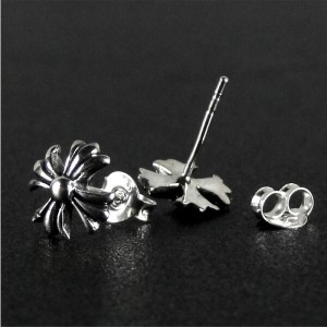 STERLING スターリング SILVER 925 CROSS PIERCE -Small Type- (ST17-048) シルバー925 クロス ピアス イアリング 十字架