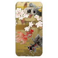 【送料無料】 金魚と桜 (ゴールド) produced by COLOR STAGE / for Galaxy S6 edge 404SC/SoftBank 【Coverfull】404sc ケース...