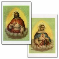 Special holy note card (Large Hard)- Sacred Heart & Immaculate Heart 2P set