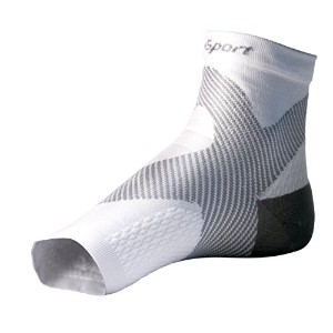 SureSportテつョ Ultra 8 Plantar Fasciitis Foot / Ankle Compression Sleeve (Black & Grey) XS Toeless Sock for Heel Arch & Ankle Support Men & Women - Accelerated Recovery, Reduced Muscle Fatigue - Breathable & Comfortable, Relief From Swelling, Improves Blood