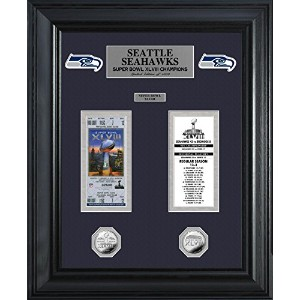 Highland Mint SSSBTICKETK Seattle Seahawks Super Bowl Ticket and Game Coin Collectable