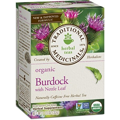 海外直送品Traditional Medicinals Teas Organic Burdock Tea, 16 BAGS
