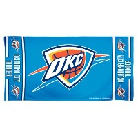 NBA Oklahoma City Thunder 30 by 60 Fiber Reactiveビーチタオル