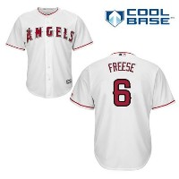 David Freese Los Angeles Angels of Anaheim # 6 MLBクールベースホームジャージー(メンズXXL )