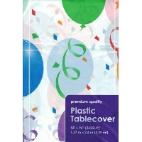 Plastic Rectangle Party Tablecloth Party Balloons 54 X 96 Inches by Greenbrier by Greenbrier...