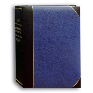 Pioneer Photo Albums 50-Pocket Navy Blue and Black Ledger Style Leatherette Cover Photo Album for 5...