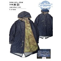 BUZZ RICKSON'S(バズリクソンズ)PARKA-SHELL,DENIM TYPE-51 COMOUFLAGE LINER/BR13882-421)A/NAVY【2017AW.ver】