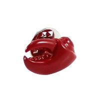 mendepot Novelty Red Crab Clawラペルピン