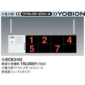 ECE3152 パナソニック YOBION 小電力型 ワイヤレスサービスコール 受信器(シンプルタイプ)