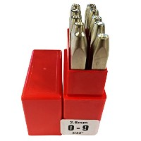 PRYOR PREMIUM PP10025 0-9 Punches, 10 Piece, 3/32 Character Size, 2.5 mm by PRYOR PREMIUM