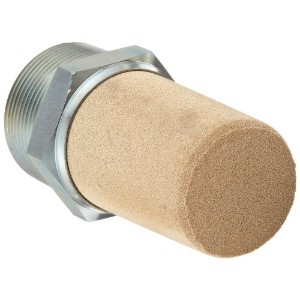 Parker EM150 EM Series Sintered Bronze Muffler/Filter, 1-1/2 NPT Male, 2 Hex Size, 250 psi by Parker