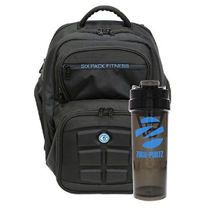 Fitness Expedition Backpack W/ Removable Meal Management System 300 Black/Neon Blue w/ Bonus...