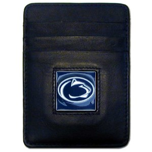 NCAA Penn State Nittany Lionsレザーマネークリップ/ Cardholder Wallet