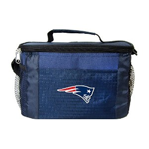 NFL新しいEngland Patriots Insulated Lunch Cooler Bag with Zipper Closure、ネイビー