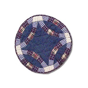 Patch Magic 19-Inch by 13-Inch Blue Dbl Wedding Ring Place Mat by Patch Magic [並行輸入品]