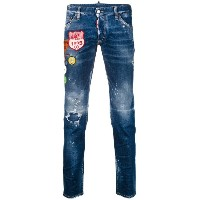 Dsquared2 - embroidered Clement jeans - men - コットン/ポリエステル/スパンデックス - 46