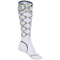 スマートウール レディース スキー・スノーボード【PhD Pattern Ski Socks - Merino Wool, Over the Calf】White