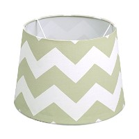 Lolli Living Lampshade, Grey Zig Zag by Lolli Living