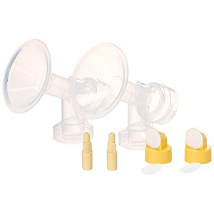 21 mm Small Flagne w/ Valve and Membrane for SpeCtra Breast Pumps S1, S2, M1, Spectra 9; Narrow (Standard) Bottle Neck; Made by Maymom by Maymom