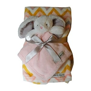 Blankets & Beyond Striped Bunny Security Blanket by Blankets and Beyond