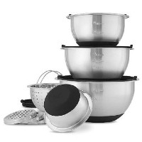 Wolfgang Puck stainless-steel Mixing Bowls with Lids、12-pieceセット、ブラック