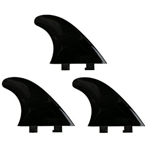 "4.5 "" Flexy Tip Fin Stabilizer for Shortboard to SUP、最小Flexの川とサーフ2タブミニボックス+ FCS互換 (Black, TRI (ALL..."