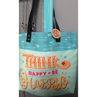 Think Happy be Happyトートバッグバッグ