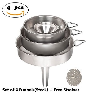 Nlife Mini 2インチ口ステンレススチールキッチンFunnels Multipurpose for Cooking Essential Oils flask-fillingの液体の転送...