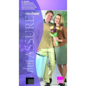 Mediven Assure, Closed Toe, 30-40mmHg, Calf High Compression Stocking, Large, Black by Medi