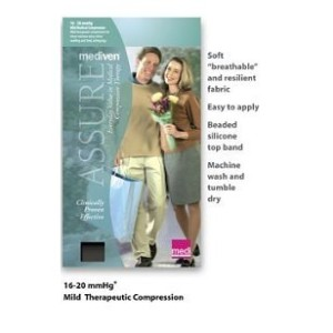 Mediven Assure, Closed Toe, 20-30mmHg, Knee High Compression Stocking, Small, Beige by Mediven
