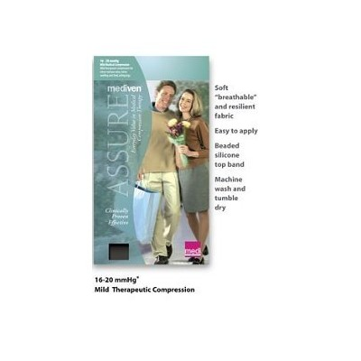 Mediven Assure, Closed Toe, 20-30mmHg, Knee High Compression Stocking, XX-Large, Beige by Medi