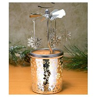 Spinning Snowflakes Candle Holder with曇りガラス北欧デザイン