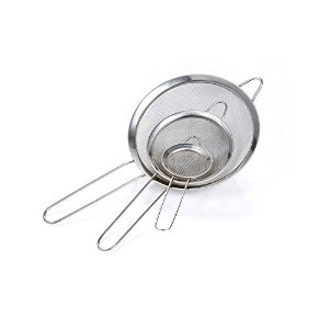 GWHOLE Stainless Steel Fine Mesh Tea Food Strainers Colander for Kitchen,Set of 3 by GWHOLE