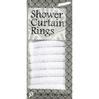 RC SHOWER CURTAIN HOOKS WHITE by Royal Crest