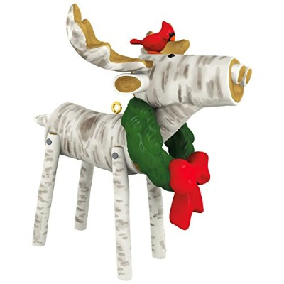 2017 Hallmark Birch Merry Moose Ornament