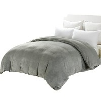 Zhhlaixing Simple 柔らかい Warm Zipper Duvet Cover 居心地の良い Thick Flannel Quilt Cover Bedding Single...