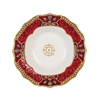 Fitz and Floyd 49 – 667 Renaissance Holiday Platter Serving レッド