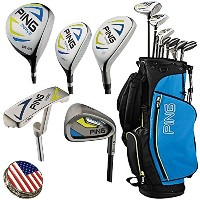 Ping Thrive ジュニア Complete Golf セット, Right ハンド, Comes with a Custom Ball Marker ハット Clip セット (US...
