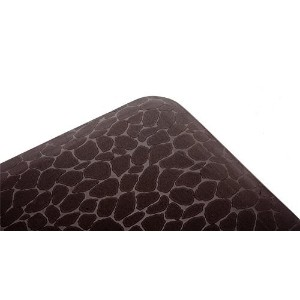 MAXMAT 42 x 18 x 0.63 Inch Anti-fatigue Comfort Mat for Kitchen and Office 100%PU - Leopard Pattern,Dark Brown by MaxMat