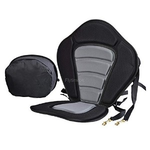 Deluxe Kayak Seat Pad Hot Seat Adjustable Safe Padded with Detachable Back Pack Practical by Canoe