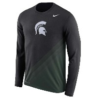 Michigan State Spartans Nike 2017 2nd Season Sideline Gradient Dri-FIT Legend Long Sleeve T-Shirt...