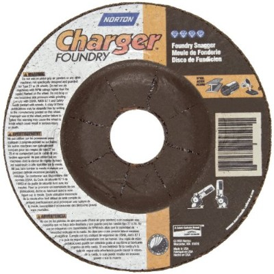 Norton Charger Plus Foundry Depressed Center Abrasive Wheel, Type 27, Zirconia Alumina and Silicon...
