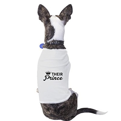 Their Prince Funny Pet Shirt For Small Dog Only Funny Pet Clothes