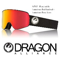 2018 DRAGON ドラゴン ゴーグル GOGGLE NFX2 JAPAN-FIT BLACK RED LUMALENS