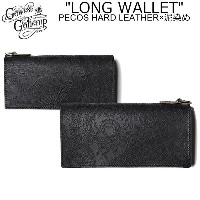 """【GO WEST×RE.ACT】ゴーウエスト×リアクト GWG0105ADP""""LONG WALLET /PECOS HARD LEATHER×泥染め""""ロング ウォレット レザー ペイズリー エンボス..."""