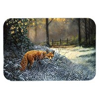 Caroline's Treasures BDBA0347LCB 'Fox on the Hunt' Glass Cutting Board, Large, Multicolor [並行輸入品]