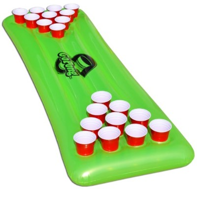 GoPongプールPong表、Inflatable Floating Beer Pong Table , Includes 3 Pong Balls