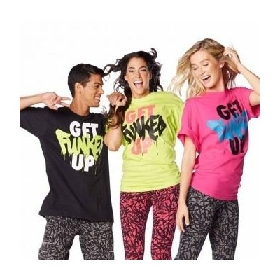 Zumba (ズンバ) Get Funked Up T-shirt Free Size (Pink) [並行輸入品]