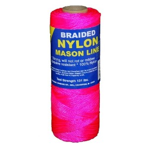 T.W. Evans Cordage 12-515 Number 1 Braided Nylon Mason with 500 ft. in Pink